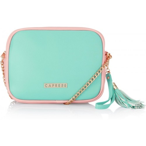 Caprese Women Evening/Party Green PU Sling Bag