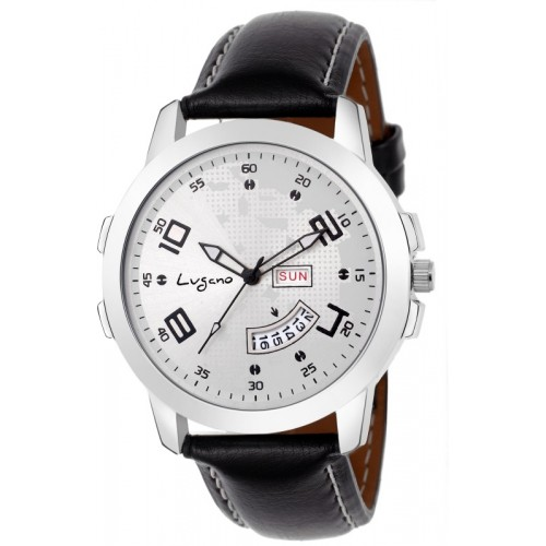 Lugano LG 1108 CH Exclusive White Dial Day & Date Watch  - For Men