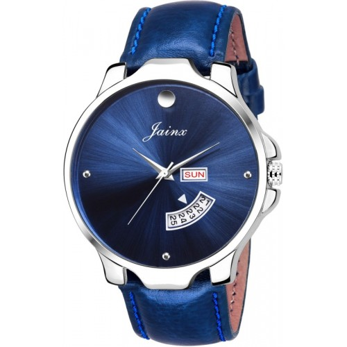 JAINX JM303 Blue Day and Date Watch  - For Men