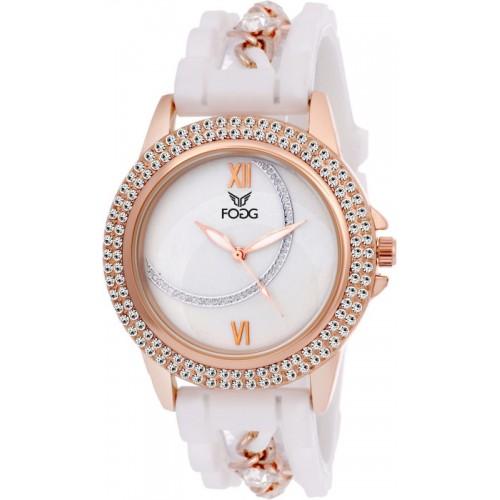 Fogg White Elegant Watch