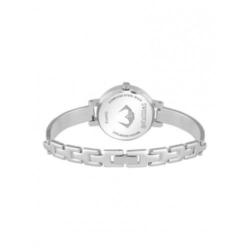 SWISSTONE Jewels068-Pnkslv Pink & Silver Stainless Steel Strap Watch