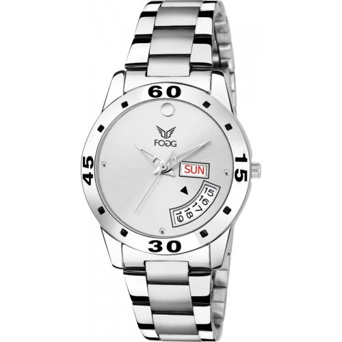 Fogg 4059-WH White Day & Date Hybrid Watch  - For Women