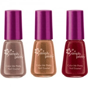 Avon Anew Color Me Pretty Nail Enamel (set of 3) choco-cran-coffee(Pack of 3)