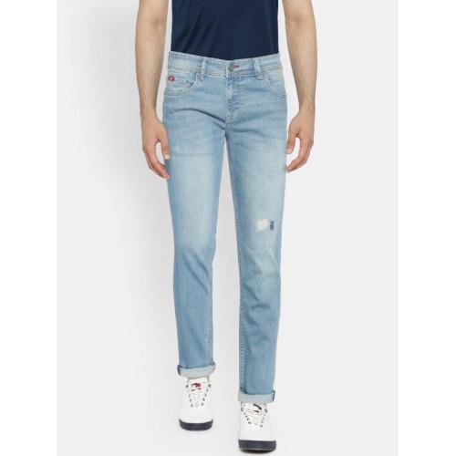 Lee Cooper Men Blue Slim Fit Mid-Rise Mildly Distressed Stretchable Jeans