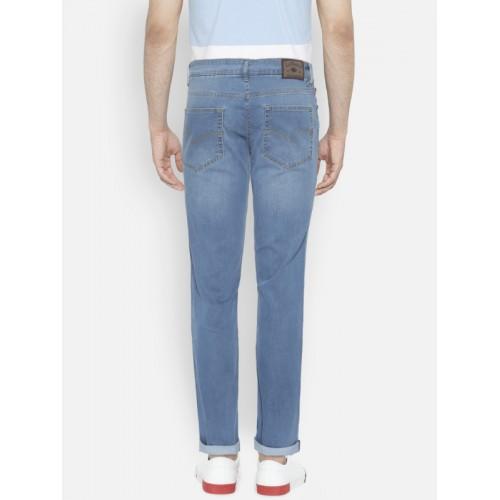 Lee Cooper Men Blue Norris Slim Fit Low-Rise Mildly Distressed Stretchable Jeans