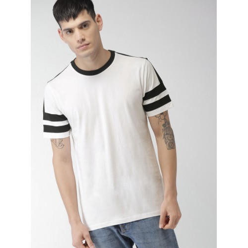 Buy Forever 21 Men White Solid Round Neck T Shirt Online Looksgud In