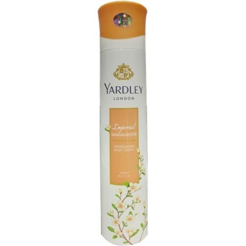 Yardley Imperial Sandalwood Perfume Body Spray  -  For Women(150 ml)