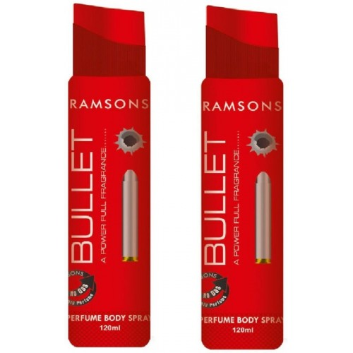 Ramsons Bullet No Gas Perfume Body Spray Combo Perfume Body Spray  -  For Women(240 ml, Pack of 2)