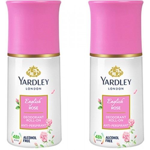 Yardley London English Rose Deodrant Roll On (Pack Of 2) Deodorant Roll-on  -  For Women(50 ml, Pack of 2)