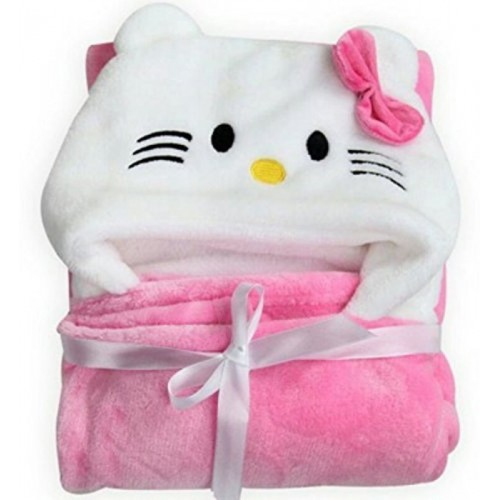 My New Born Animal Single Pink Swadding Baby Blanket
