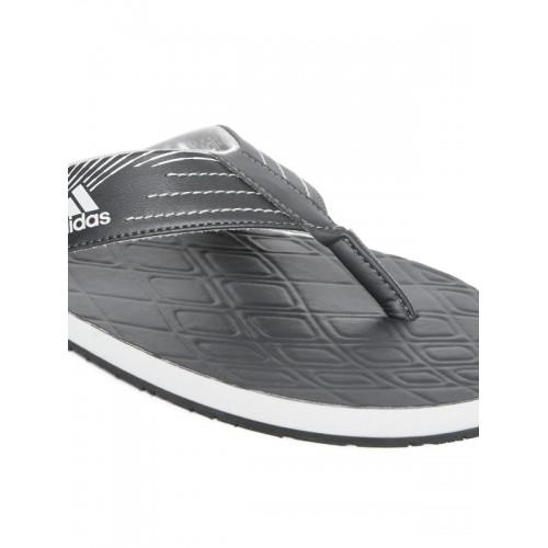 Adidas Men Black GADI 2018 Textured Thong Flip-Flops