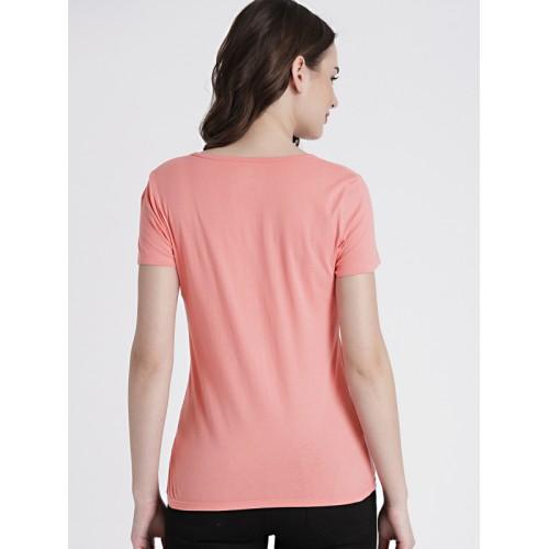 GAP Women's Pink Boxy Rhinestone Logo Tee