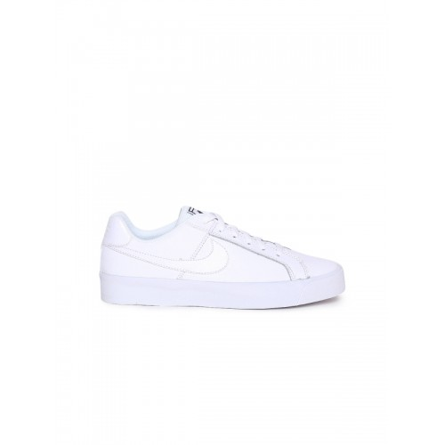 Nike Women White Leather Sneakers