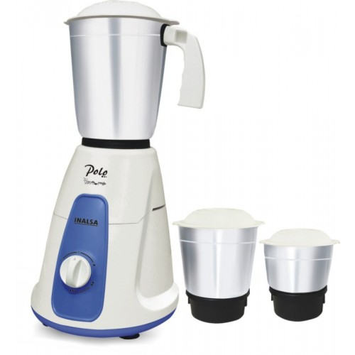 Inalsa Polo 550 W Mixer Grinder(White 3 Jars)