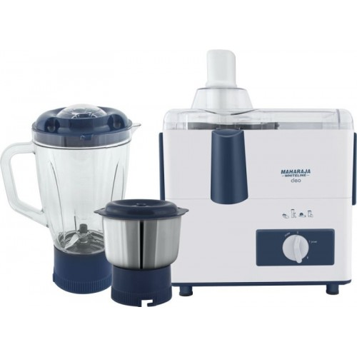 Maharaja Whiteline CLEO (JX-115) 450 W Juicer Mixer Grinder(White, 2 Jars)