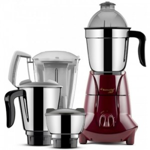 Butterfly Jet 750 W Juicer Mixer Grinder(Cherry Red, 4 Jars)
