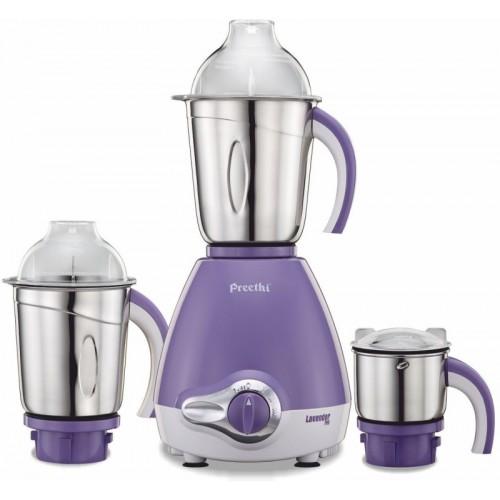 Preethi Lavender - MG 176 600 W Mixer Grinder(Lavender, 3 Jars)
