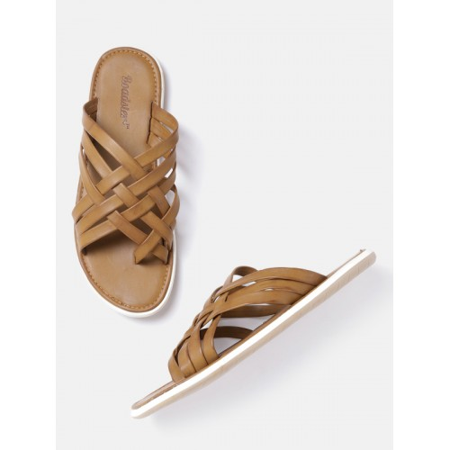 60f9d9945 Buy Roadster Men Tan Comfort Sandals online