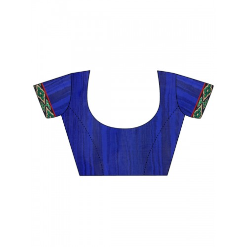 Blissta Blue Bandhani Print Poly Georgette Saree