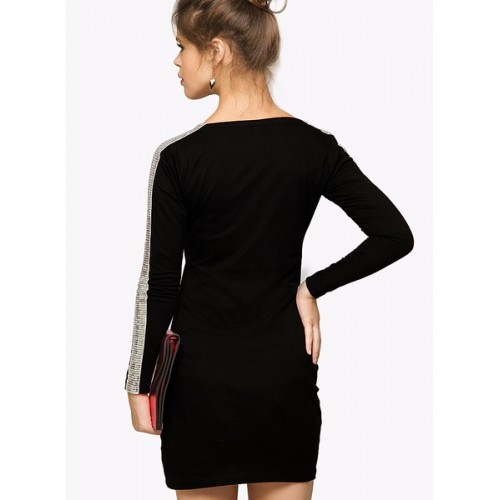 Miss Chase I'm Bad' Power Shoulder Bodycon Dress