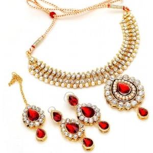 Jewar Mandi Metal Diamond Jewel Set