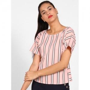 StalkBuyLove Women Pink Striped Top