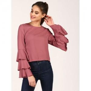 StalkBuyLove Women Pink Solid Top