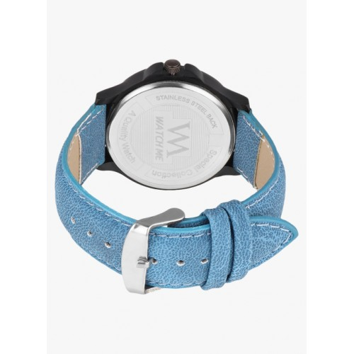 Watch Me Blue Leather Analogue Watch
