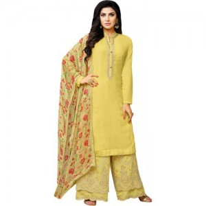 157470c49f Ratnavati Cotton Silk Blend Self Design, Solid, Floral Print Semi-stitched  Salwar Suit