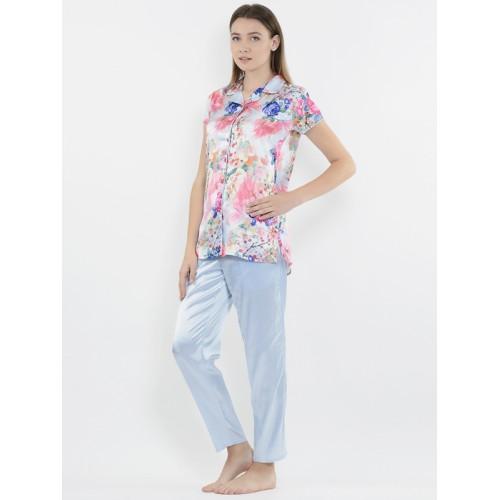 68371ea9e Buy Sweet Dreams Women Blue   Pink Floral Print Night Suit 278778 ...