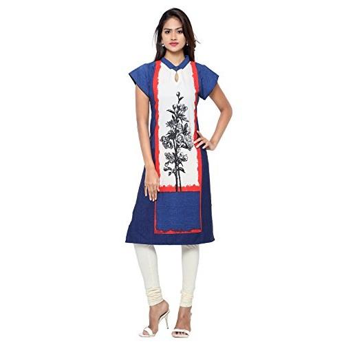 Inddus Women Off White Printed Kurti
