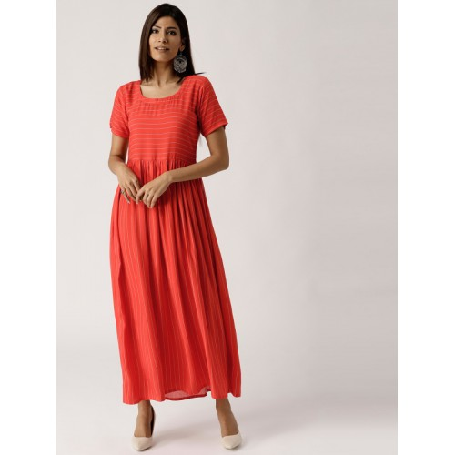 bc14059bde Buy Libas Women Red & White Striped Maxi Dress online | Looksgud.in