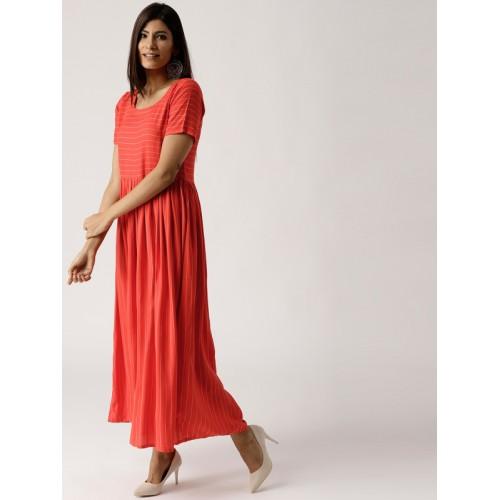 33ce2eb513b Buy Libas Women Red   White Striped Maxi Dress online