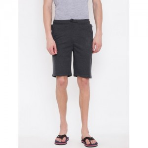 Sweet Dreams Men Charcoal Grey Solid Lounge Shorts MK-163418COM