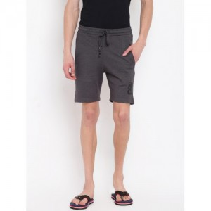 Sweet Dreams Men Charcoal Grey Solid Lounge Shorts MS-171518COM