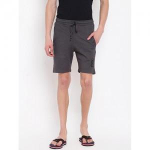 Sweet Dreams Men Charcoal Grey Solid Lounge Shorts MS-171518COM