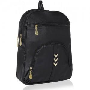 Kleio Elegant Zipper Backpack For Girls / Women 18 L Backpack(Black)