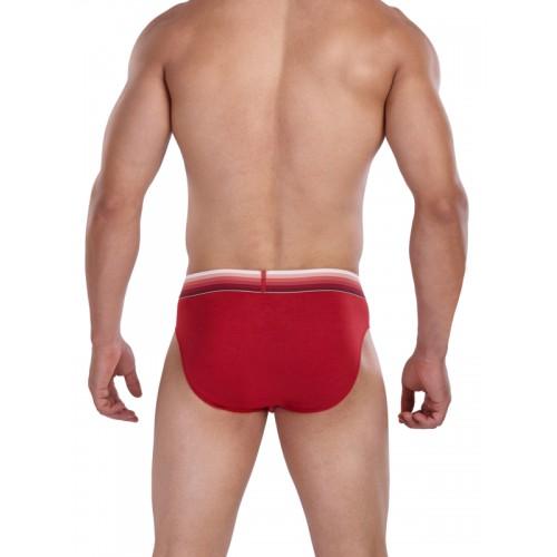 FCUK Men Red Active Gradient Hip Briefs CBR06