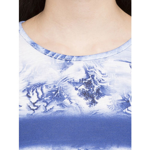 Globus Women Blue Printed A-Line Dress