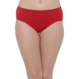 Clovia Women Red Solid Hipster Brief PN2383P01XL