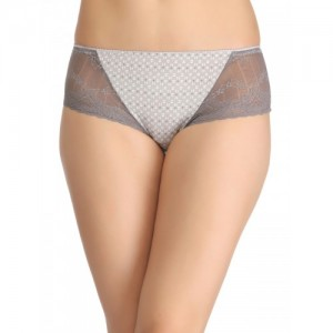 Clovia Women Grey Printed Hipster Briefs PN0929P01