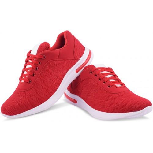 Butchi  Men's Red Smart Sport Shoes