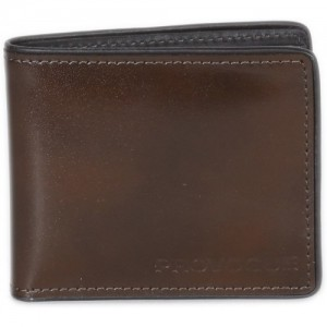 Provogue Men Formal Brown Genuine Leather Wallet(8 Card Slots)