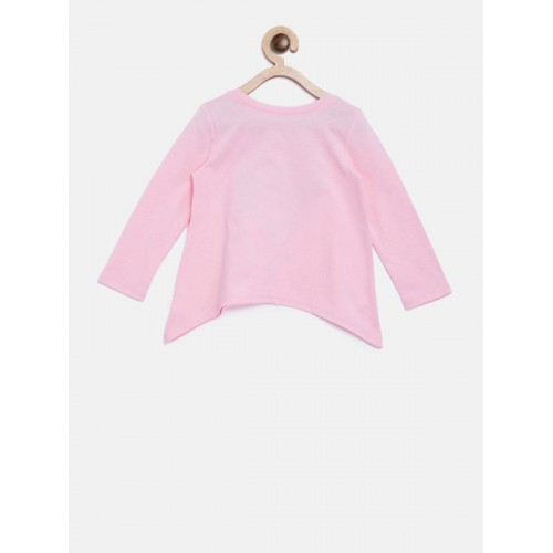 The Childrens Place Girls Pink Printed A-Line Top