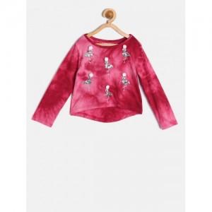 Nauti Nati Girls Pink Embellished Top