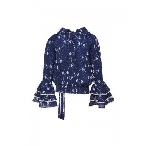 3d250cfa792e Buy CUTECUMBER Girls Navy Blue Printed Blouson Top online