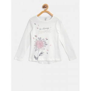 471dd2a6d9 Kids from OVS On Myntra (45 items). OVS Girls White Floral Print Round Neck  T-shirt