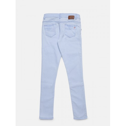 Palm Tree Girls Blue Regular Fit Mid-Rise Clean Look Jeans