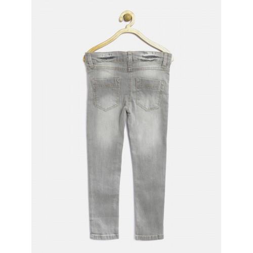Nauti Nati Girls Grey Regular Fit Stretchable Jeans