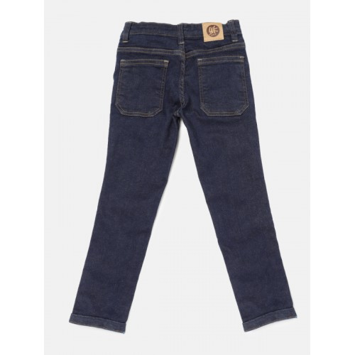 YK Boys Blue Mid-Rise Clean Look Jeans